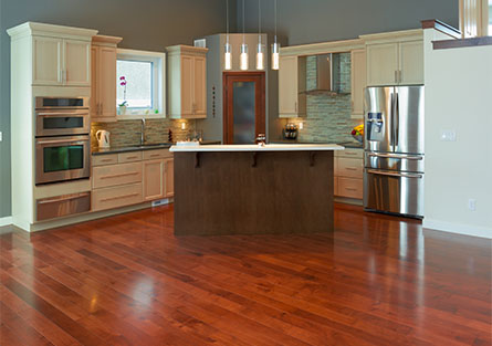 Kitchen with Hardwood Floors in Cary, NC